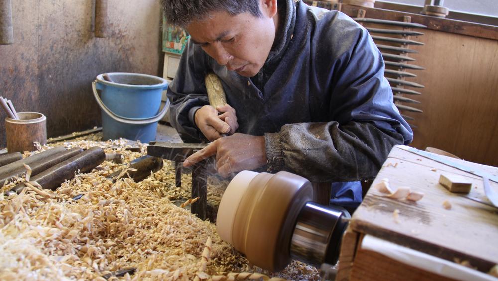 漆器の木製素材