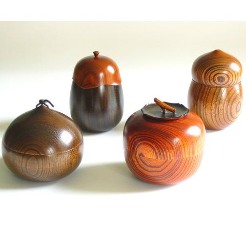 漆器の茶筒・お茶用品