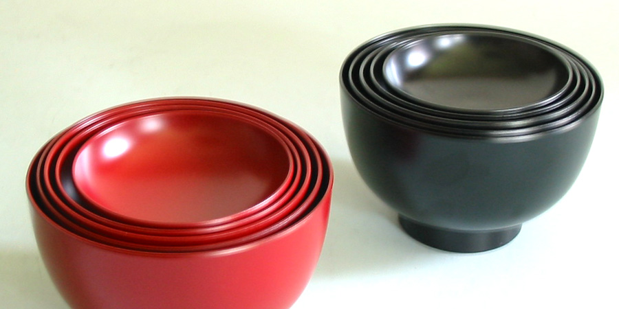 入れ子の器シリーズ 漆器の井助