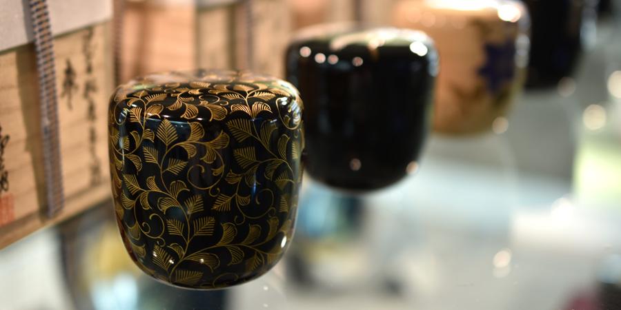 漆器のお茶用品・茶筒・棗