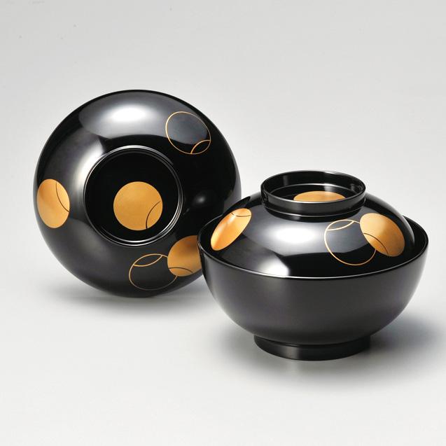 つぼつぼ 煮物椀 黒  漆塗り
