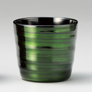 フリーカップ ロクロ目 緑透