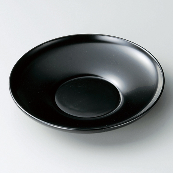 茶托4.2ダルマ 黒5枚セット