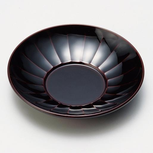 茶托 長寿菊 溜 5枚セット 漆塗り