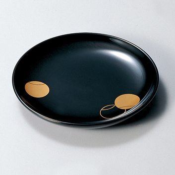 銘々皿 つぼつぼ 黒 5枚セット 【送料無料】木製 漆塗り 取り皿・小皿