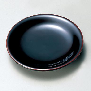 銘々皿 丸 5.0 溜 5枚セット 【送料無料】 木製 漆塗り