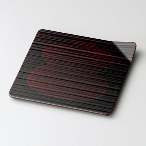 銘々皿 4.5 吹上 瓢箪白檀 5枚セット 【送料無料】 木製