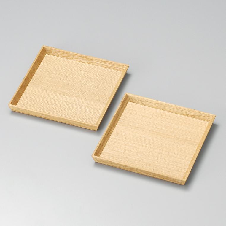 銘々皿 5.0 白木塗 タモ ペア2枚組 木製