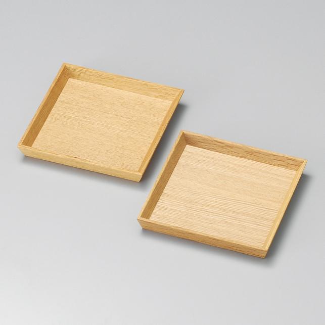 銘々皿 4.0 白木塗 タモ ペア2枚組 木製