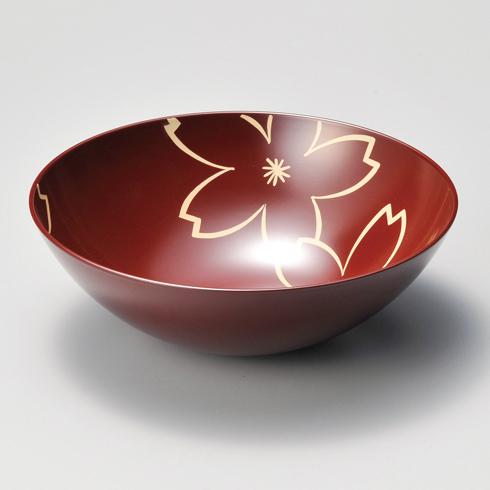 盛鉢 7.0 内桜 朱 漆塗り