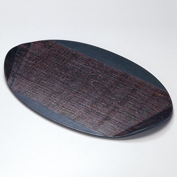 木の葉膳 布貼り 溜 【送料無料】 木製 漆塗り ランチョンマット・折敷