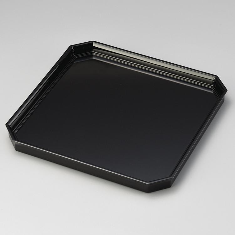 卓上膳 10.5 角切 黒 【送料無料】 木製 漆塗り