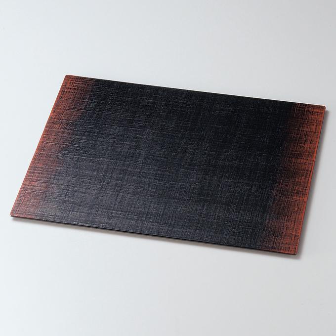 板膳 布貼り ぼかし塗 【送料無料】 木製 漆塗り ランチョンマット・折敷