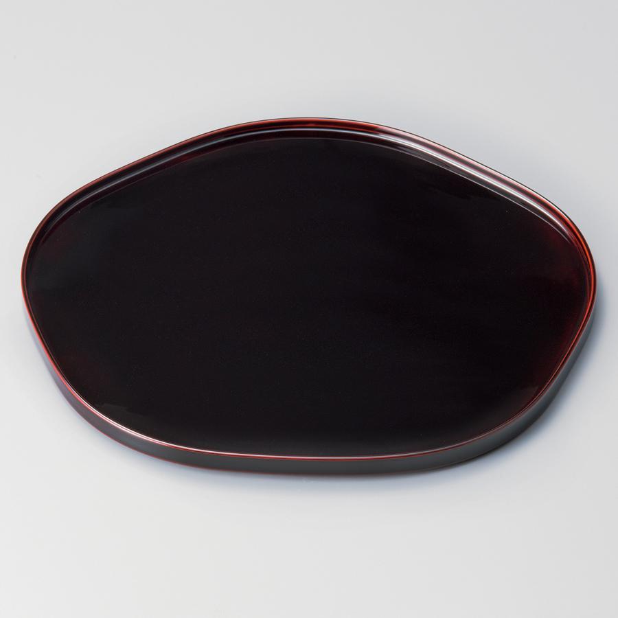 梅形膳 12.0 溜 【送料無料】 木製 漆塗り ランチョンマット・折敷