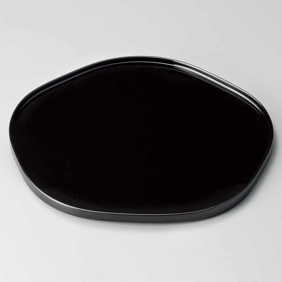 梅形膳 12.0 黒 【送料無料】 木製 漆塗り ランチョンマット・折敷