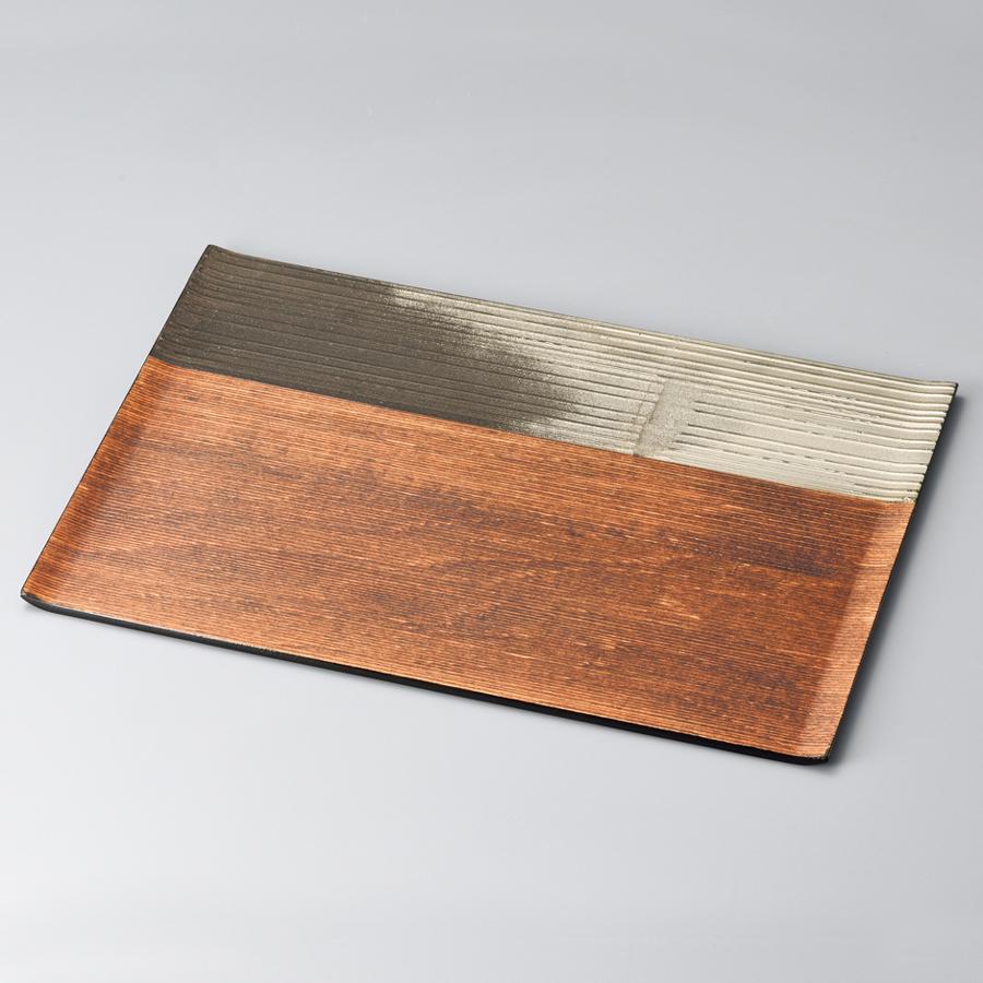 漆膳 錫銀彩 【送料無料】 木製 漆塗り ランチョンマット・折敷