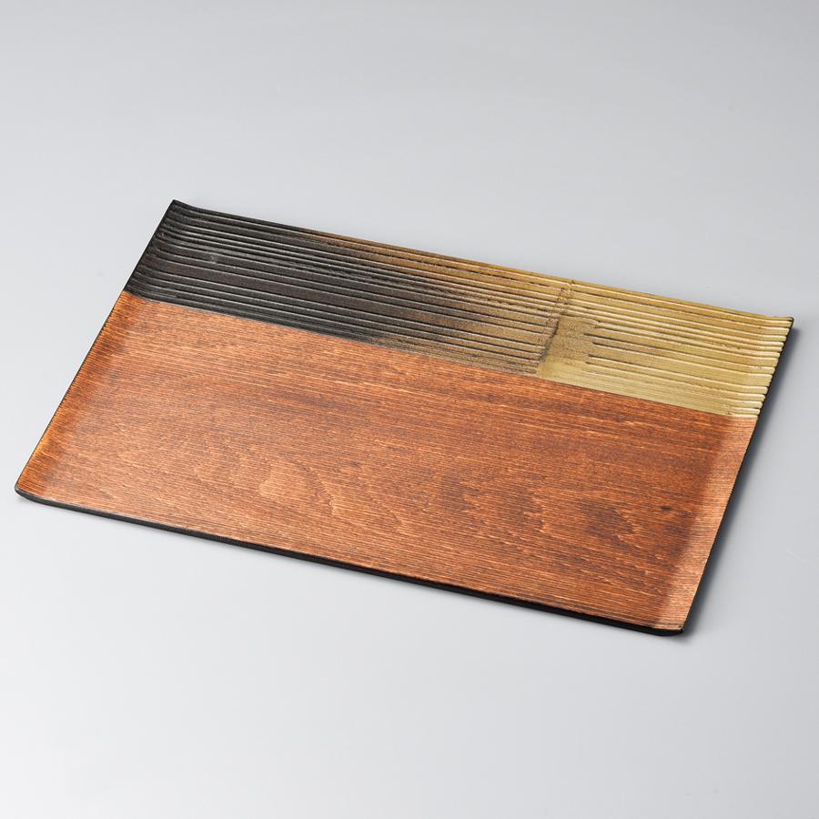 漆膳 錫金彩 【送料無料】 木製 漆塗り ランチョンマット・折敷