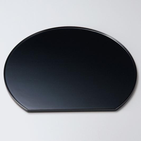 半月膳 13.0 黒 【送料無料】 木製 漆塗り ランチョンマット・折敷