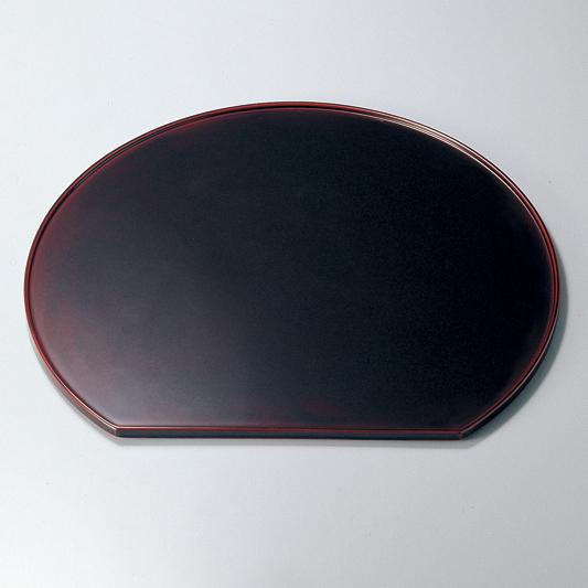 半月膳 13.0 溜 【送料無料】 木製 漆塗り ランチョンマット・折敷