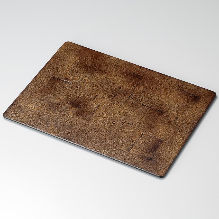 折敷 13.0 錆地 溜 木製 ランチョンマット