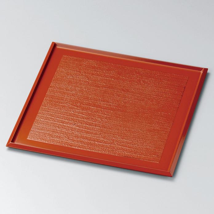 角小膳 9.0 錆漆 漆塗り ランチョンマット・折敷