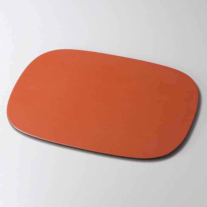小判ランチョンマット パールオレンジ 木製 折敷