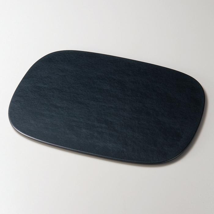小判ランチョンマット パールブラック 木製 折敷