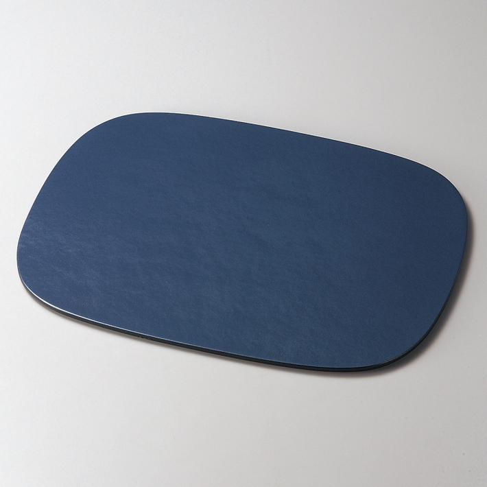 小判ランチョンマット パールブルー 木製 折敷