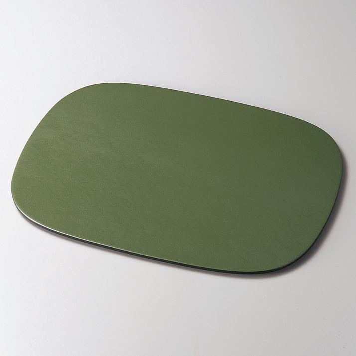 小判ランチョンマット パールグリーン 木製 折敷