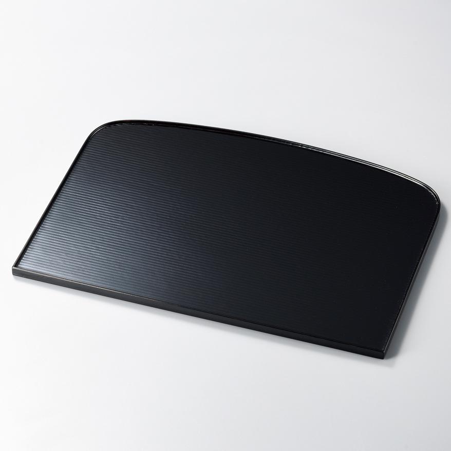 袖型膳 黒 木製 ランチョンマット・折敷