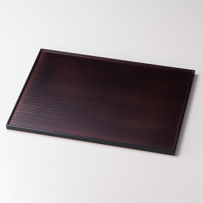 長角両面膳 13.0 5枚セット 【送料無料】 木製 ランチョンマット・折敷