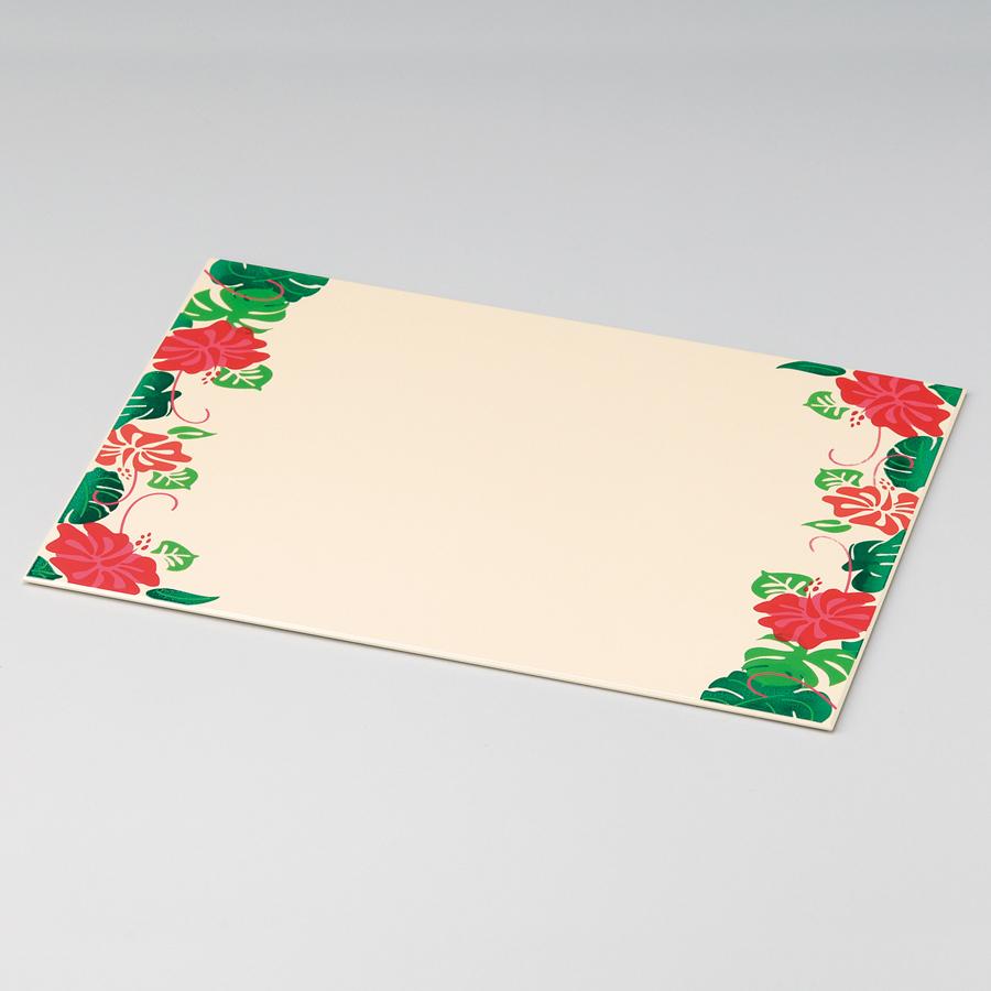 テーブルマット ハイビスカス 象牙色 ランチョンマット・折敷