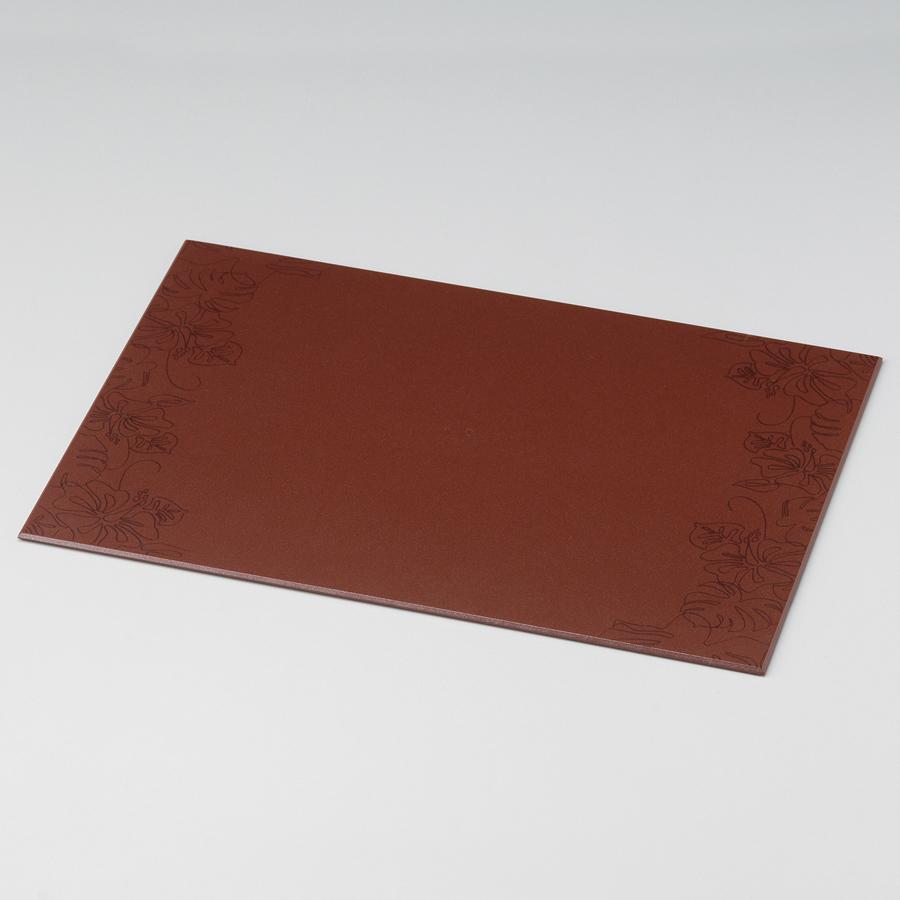 テーブルマット ハイビスカス 小豆色 ランチョンマット・折敷