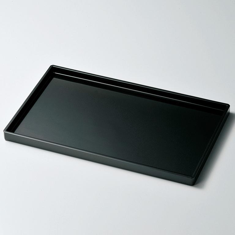 長手盆 15.0 黒 【送料無料】 木製 漆塗り