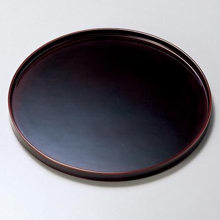 丸盆 10.0 溜 【送料無料】 木製 漆塗り