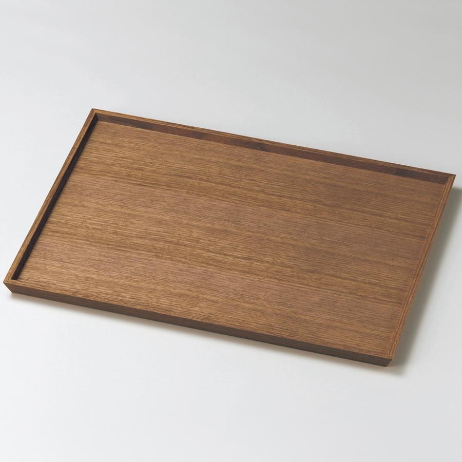 長角盆 13.0 ウォールナット 木製