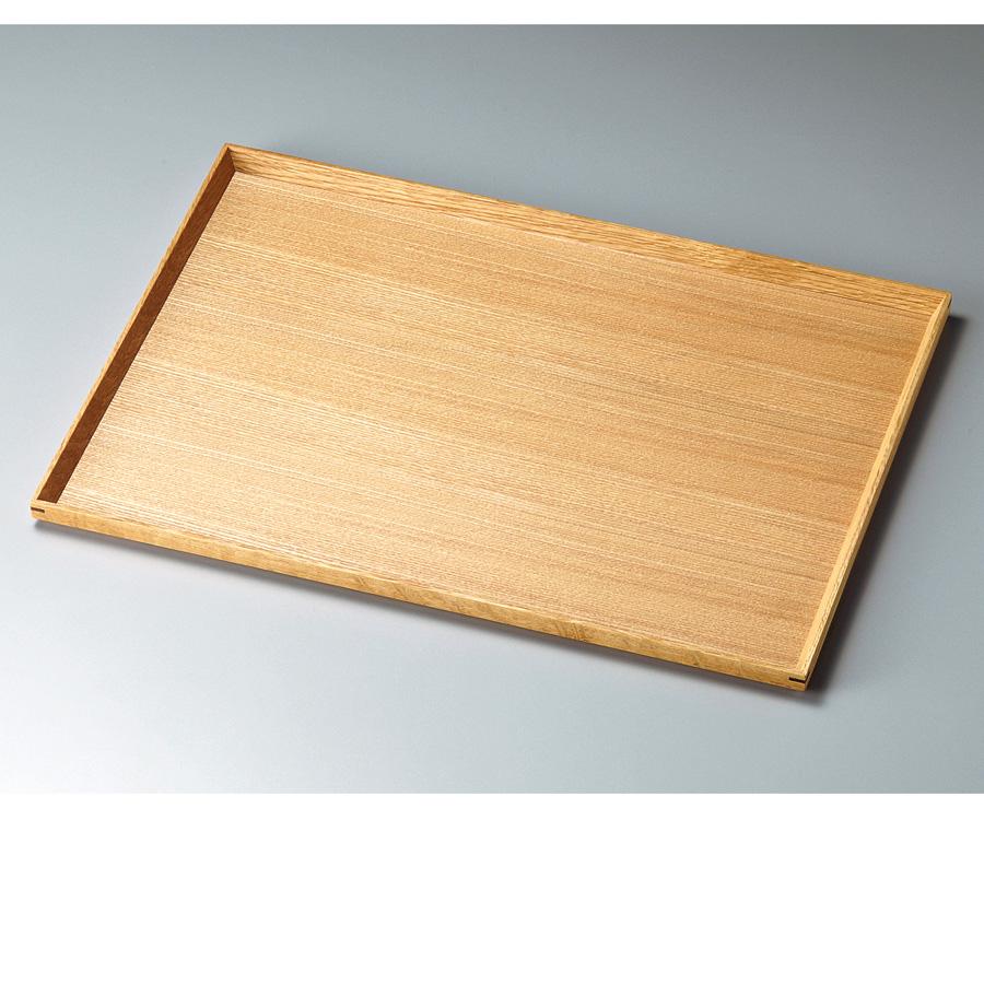 白木塗タモ140長角盆  木製