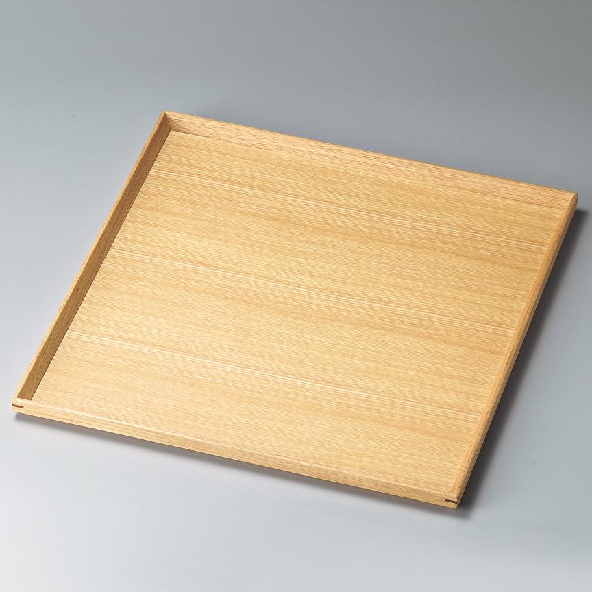 角盆 11.0 白木塗 タモ 木製