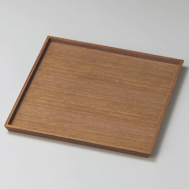 角盆 8.5 ウォールナット 木製