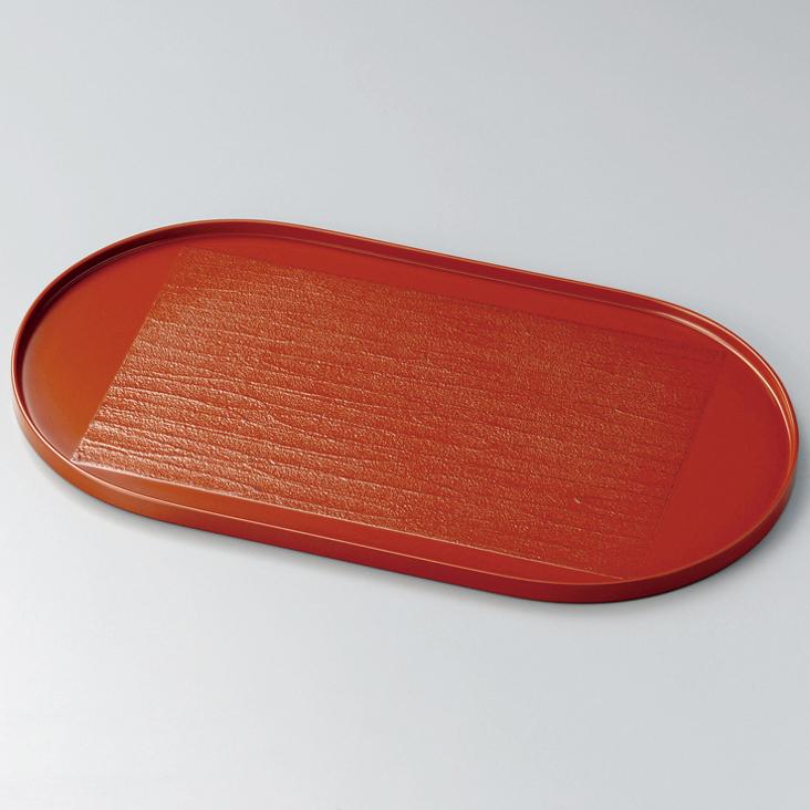 大判盆 12.0 錆漆 根来 漆塗り