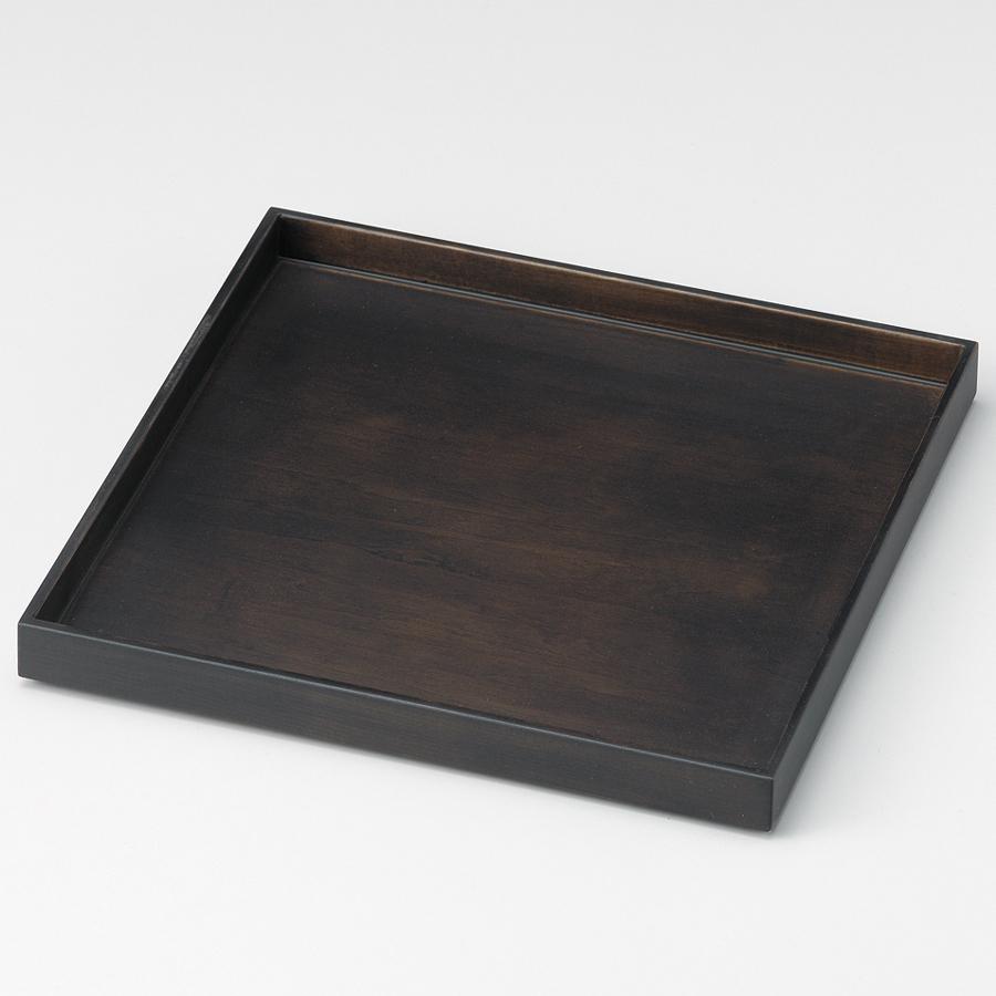 ハコ盆 墨染 木製