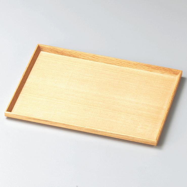 長角盆 10.0 白木塗 タモ 木製