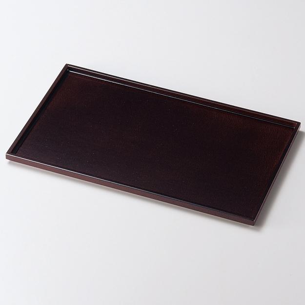 もてなし盆 10.0 布張 研出溜 木製