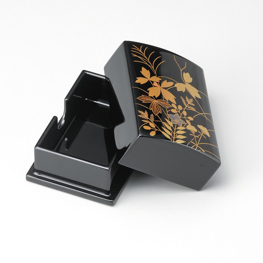 秋草 名刺箱(小) 黒  【送料無料】 漆塗り・木製
