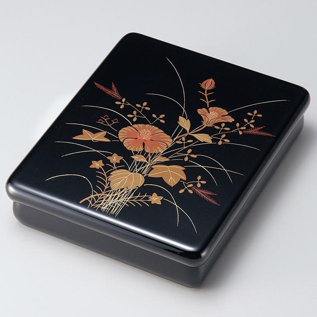 光琳文庫 芙蓉 黒内梨地 【送料無料】 漆塗り・木製