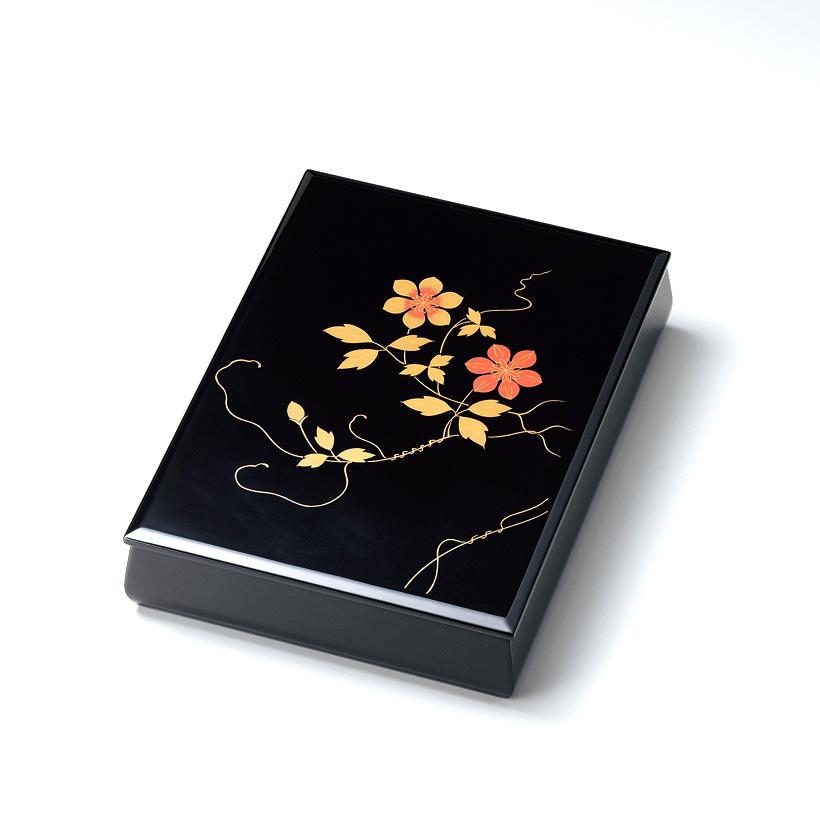 鉄線 板蓋文庫 内梨地A4サイズ 黒  【送料無料】 漆塗り・木製