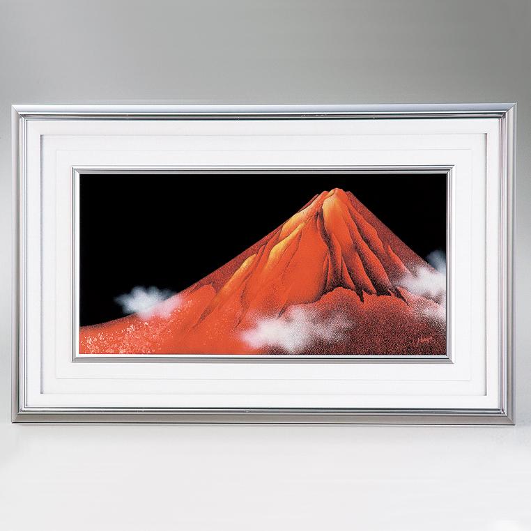 パネル 沈金赤富士 【送料無料】 漆塗り