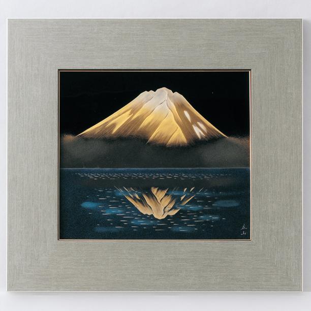 パネル 鏡富士 【送料無料】 漆塗り・木製