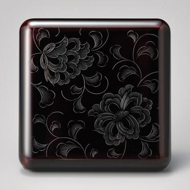 花彫り姫小重 溜 【送料無料】 漆塗り 木製