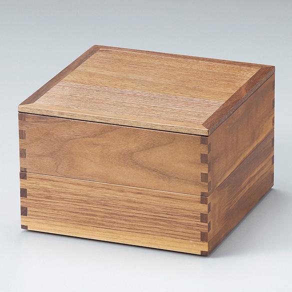 二段重 ウォールナット 内黒 6寸 【送料無料】 木製